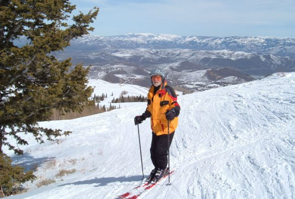 Museum member Don Covert enjoys one of our popular ski tours.